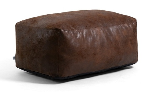 Big Joe Nestle Vegan Leather Large Bean Bag Ottoman Espresso