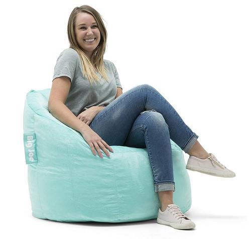 Plush Big Joe Milano Bean Bag Chair with Adult Mint