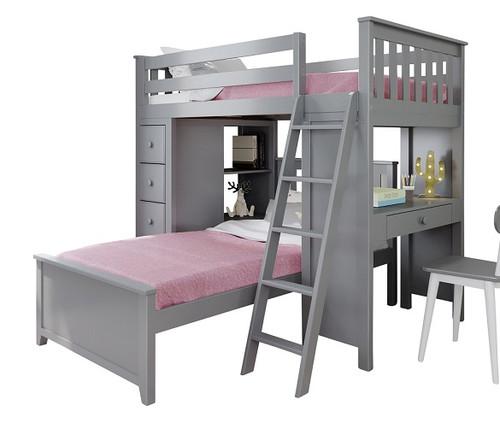 Almere Gray L Shape Loft Bed