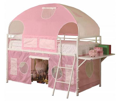 Little Bo Peep Pink Twin Girls Loft Bed