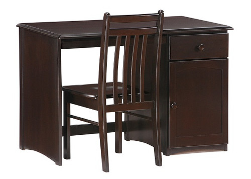 Westwood Chocolate Student Desk shown with Optional Desk Chair