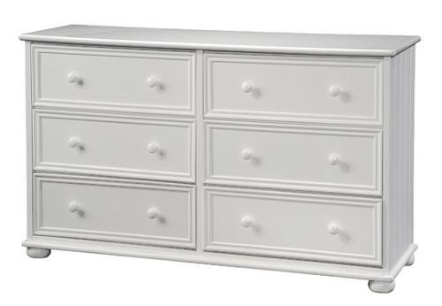 Beatrice White 6 Drawer Dresser