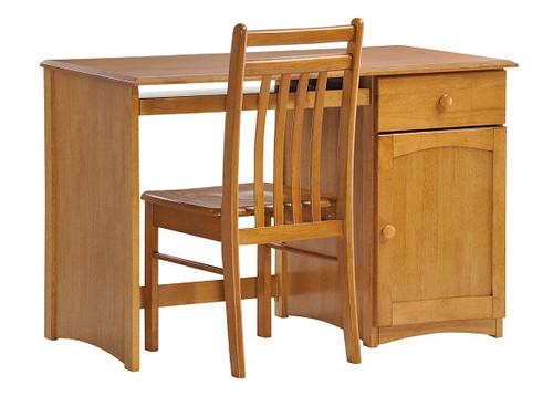 Kirkwood Oak Student Desk shown with Optional Desk Chair