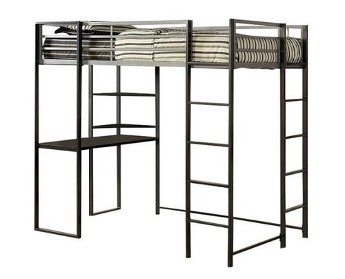 Diesel Metal Loft Bed with Desk twin size