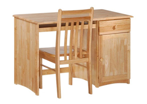 Bailey Natural Student Desk shown with Optional Desk Chair