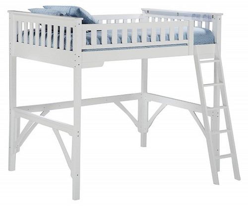 Hollywood White Twin Wood Loft Bed