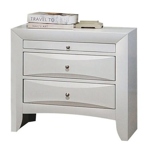 Manville White 2 Drawer Nightstand