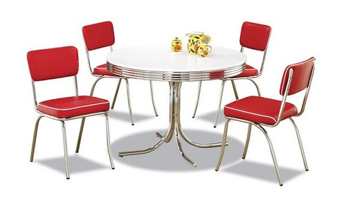 Little Ricky Retro Dinette Set Red Chairs