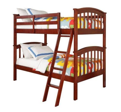 Allen Cherry Twin over Twin Bunk Bed