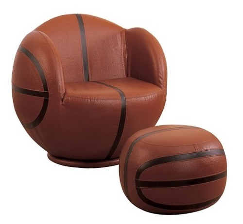 Basketball Swivel Chair & Ottoman