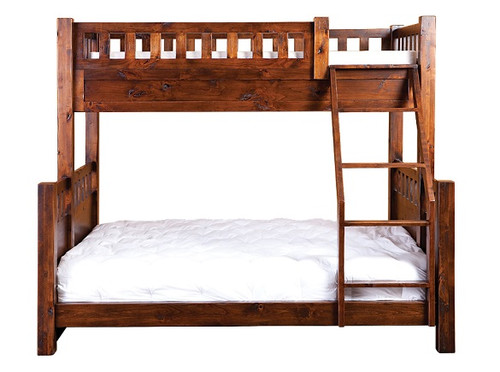Montana Extra Long Twin over Twin Bunk Bed Chestnut
