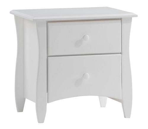Hollywood White 2 Drawer Nightstand