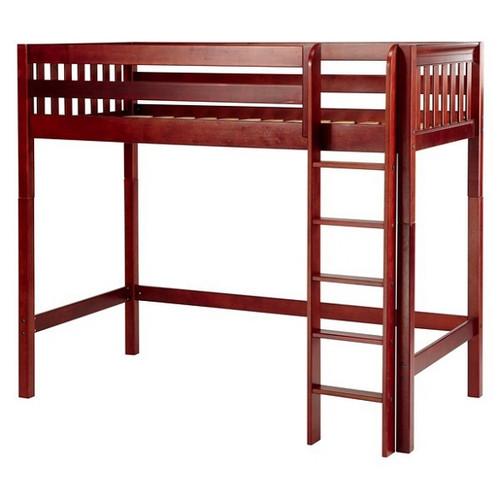 Dawson Chestnut High Twin Loft Bed
