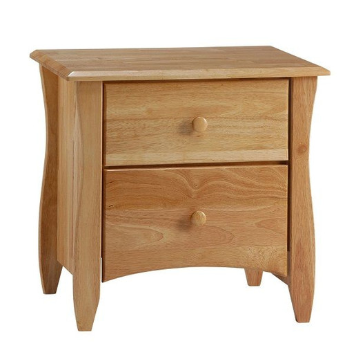 Bailey Natural 2 Drawer Nightstand