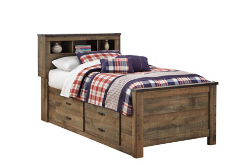 Ramada Plank Bookcase Captain's Bed twin size