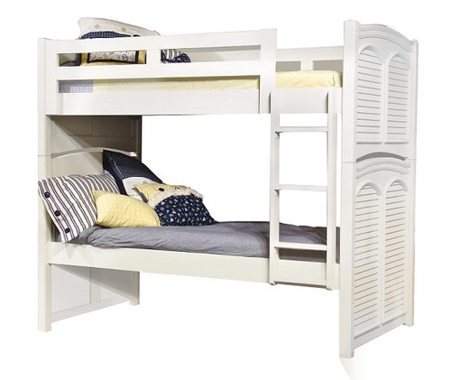 Seabrook Cottage White Twin over Twin Bunk Bed