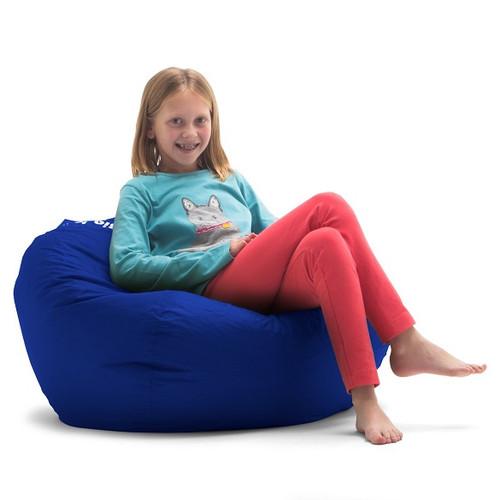 Sapphire Blue Bean Bag Chair for Kids