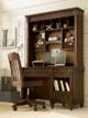 Georgetown Swivel Desk Chair Distressed Saddle Brown