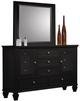 Wheeler 11 Drawer Dresser Black