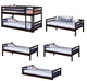 Wyatt Cappuccino Twin 3 Tier Bunk Bed Separated Configurations