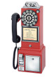 1950's Public Payphone red