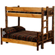 Whistler Bunk Bed Traditional Hickory twin over full size