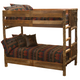 Whistler Bunk Bed Traditional Hickory twin over twin size