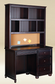 Foster Espresso Student Desk shown with Optional Desk Hutch Room
