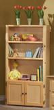 Prescott Natural Wooden Bookcase Room