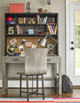 Gramercy Stone Grey Wooden Desk Chair