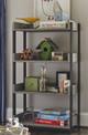 Gramercy Stone Grey Wooden Bookcase