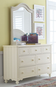 Alyssa Ivory 7 Drawer Dresser with matching mirror in room 2
