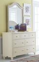 Alyssa Ivory Mirror with matching dresser in room 2