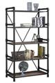 Atos 5 Shelf Pipe Metal and Wood Bookshelf