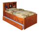 Stoney Creek Honey Bookcase Twin Captains Bed with Trundle