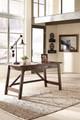 Proctor Home Office Desk Pecan in room