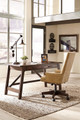 Proctor Home Office Desk Pecan in room with matching chair