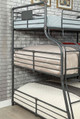 Reston Metal Twin over Full over Queen Triple Bunk Bed End Detail