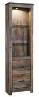 Ramada Plank Driftwood Entertainment Center with Fireplace