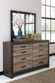 Graham Six Drawer Dresser shown with Optional Mirror Room