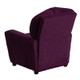 Microfiber Kids Recliner with Cup Holder Back View Purple