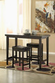 Pierce Set of 2 Dark Brown Barstools shown with Optional Bar Table