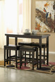 Pierce Set of 2 Dark Brown Barstools x2 shown with Optional Bar Table