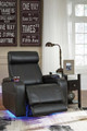 Montana Black Power Recliner Foot Out Room
