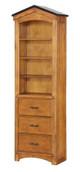 Fort Cody Honey Oak Bookcase Cabinet
