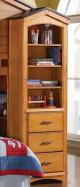 Fort Cody Honey Oak Bookcase Cabinet Side View