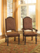 Raliegh Set of 2 Upholstered Side Chairs Cherry in room