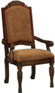 Raliegh Set of 2 Upholstered Arm Chairs Cherry single chair