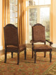 Raliegh Set of 2 Upholstered Arm Chairs Cherry in room