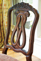 Raliegh Set of 2 Side Chairs Cherry back detail